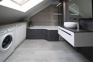 une salle de bain sous les toits lartduplan With salle de bain dans combles