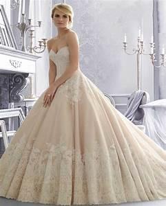 Robe De Mariée Champagne : buy vestidos de novia 2015 champagne lace wedding dress ball gown bridal ~ Preciouscoupons.com Idées de Décoration