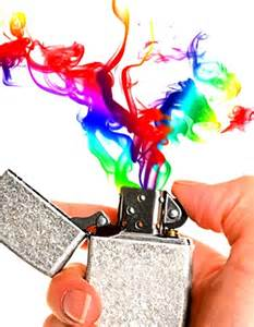 Rainbow Color Flame Lighter