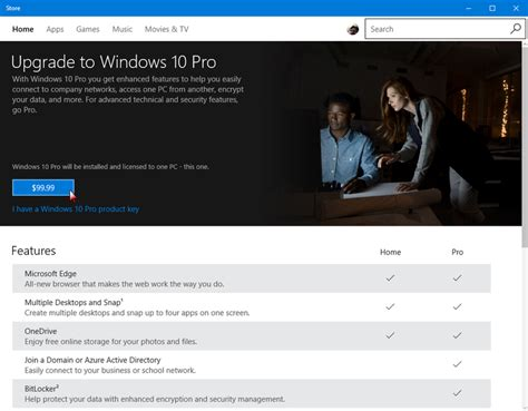 how to upgrade windows 10 home to windows 10 pro using the update security tool techrepublic