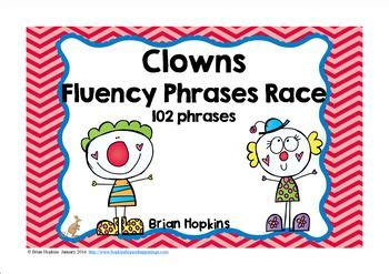 clowns sight word cvc fluency phrases race  images