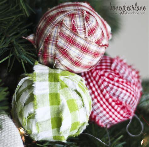 fabric christmas ornaments plaid ornaments