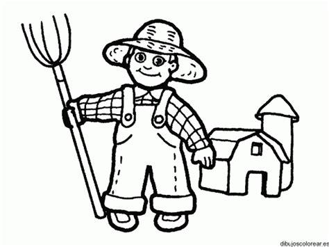 dibujos infantiles de granjeros  colorear colorear