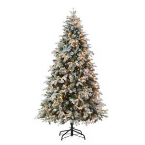 martha stewart living 8 ft indoor pre lit led snowy avalanche artificial christmas tree