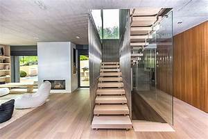 Architecture and interior design of the three-story