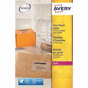 avery clear laser labels 99x677mm l7565 25 200 labels With avery zebra labels
