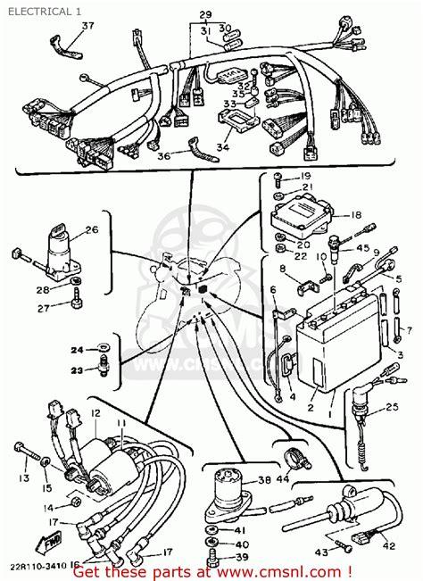 yamaha xj750 maxim 1983 d usa electrical 1 schematic partsfiche