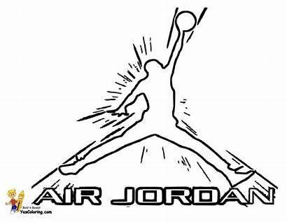 Jordan Coloring Michael Basketball Air Sheets Nba