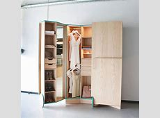 Stylish, Hidden WalkIn Closet Expands For Small Spaces