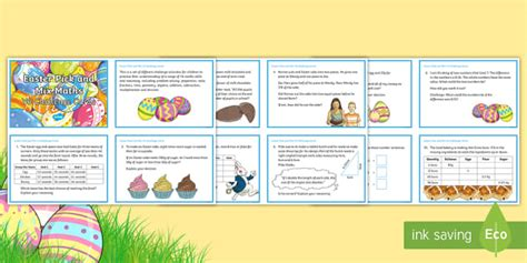 Y6 Easter Pick And Mix Maths Challenge Cards  Y6, Uks2, Upper