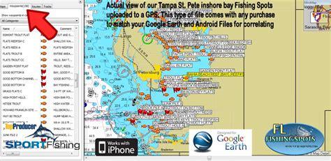 fishing tampa bay map florida gps spots maps spot coordinates inshore google offshore earth pricing sd card