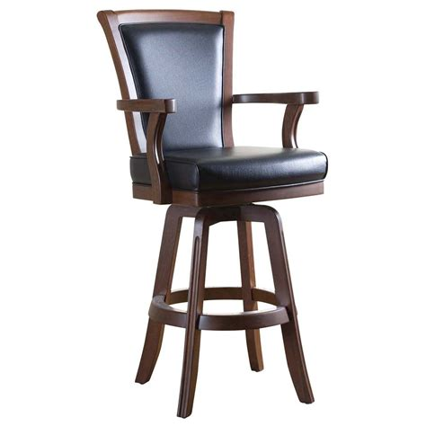 Wooden Bar Chairs With Backs by Furniture Classic Swivel Wooden Leather Bar Stools With