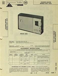 Channel Master Mdl 6501 6502 Transistor Radio Sams Photofact