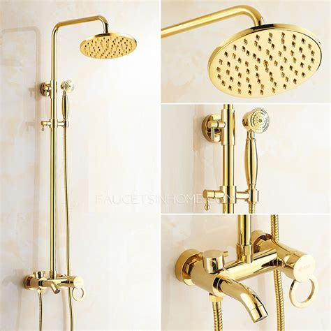 kitchen water faucet antique gold exposed brass wall mount shower faucet