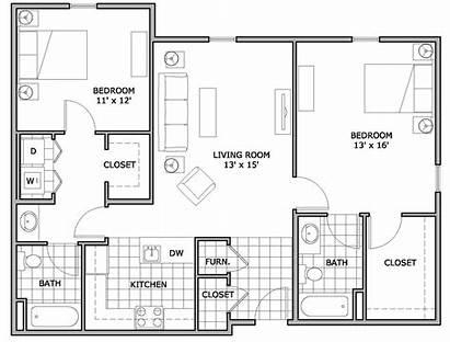 Apartment Floor Bedroom Plans Plan Apartments Bed