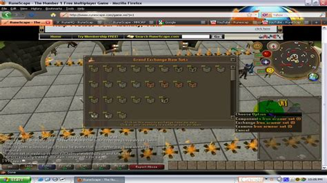 yossy set rs runescape how to exchange create armour sets