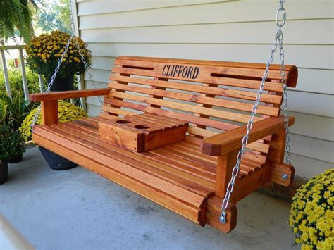 Wooden Porch Swings by 4ft Handmade Southern Style Faced Redwood Stained