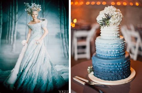 Wedding Fashion Ombre Style Dress, Replicated In The Cake