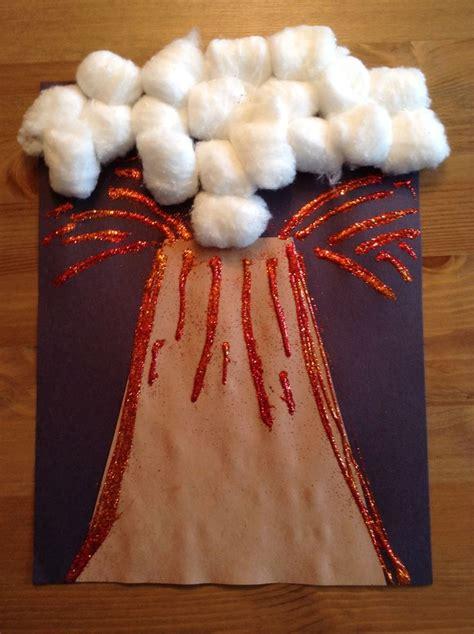volcano craft preschool craft letter