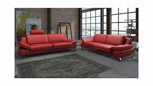 Sofa 3 2 1 Sitzer : sofa 2 5 sitzer finest in leder kaminrot mit funktionen ~ Bigdaddyawards.com Haus und Dekorationen