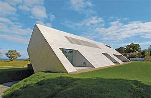 Minimalist, Home, With, Unique, Interpretation, Of, Gabled, Roof