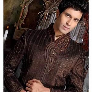 Tenue Indienne Homme : acheter tenue indienne de mari brod noir et rouge ~ Teatrodelosmanantiales.com Idées de Décoration