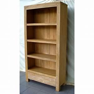 étagère Bibliothèque Bois : bibliotheque tagere bois naturel meuble d 39 indon sie ~ Teatrodelosmanantiales.com Idées de Décoration