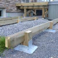 titan deck foot ground anchored deck footings in a