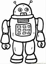 Robot Coloring Printable Robots Colouring Template sketch template