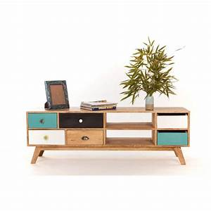 meuble tv bas design scandinave With meuble scandinave