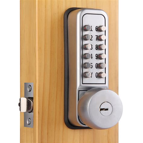 mechanical keypad security digital code door lock push button handle  keys ebay