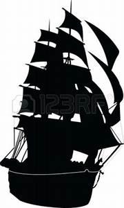 Ghost Pirate Ship Silhouette