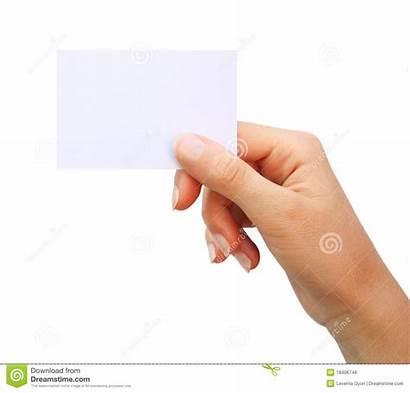 Blank Holding Mano Biglietto Visita Visite Carte