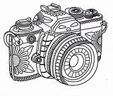Coloring Camera Tribal Adult Sheets Printable Adults Cameras Mandala Photographer Cartoon Drawings Coloringsky Template Activity Sketch Sky Learn Smiling sketch template