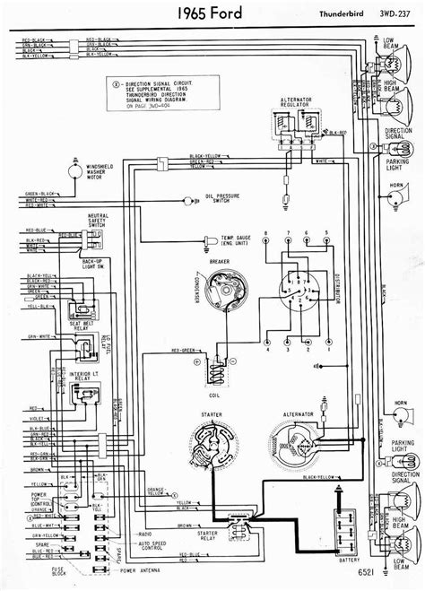 1966 Ford F100 Horn Diagram by Wiring Diagrams Of 1965 Ford Thunderbird Part 2 Auto