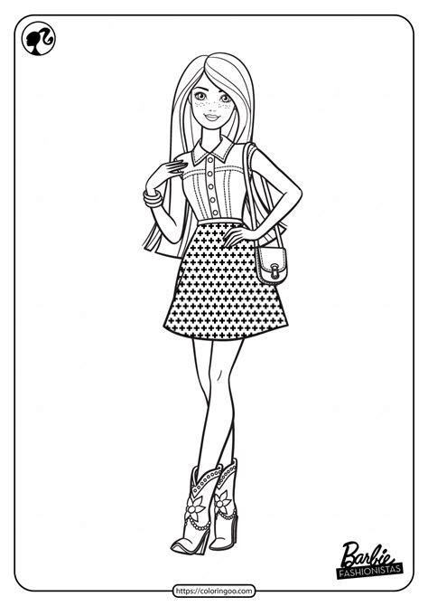 printable barbie fashionistas  coloring pages
