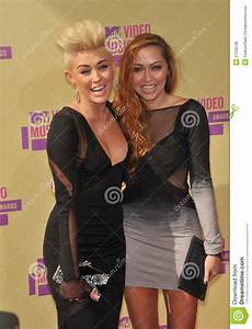 Brandi Cyrus,Miley Cyrus editorial stock photo. Image of ...
