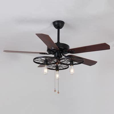 black wrought iron ceiling fan industrial fan ceiling fixture gear in wrought iron style