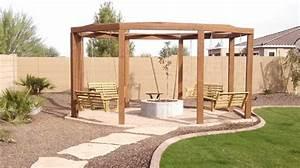 Fire Pit and Pergola - Arizona Living Landscape & Design
