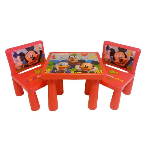 mickey mouse clubhouse table and chair set decor
