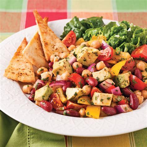 cuisine mexicaine salade de légumineuses à la mexicaine recettes cuisine et nutrition pratico pratique