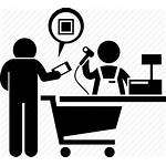 Icon Cashier Mobile Shopping Icons Payment Buying