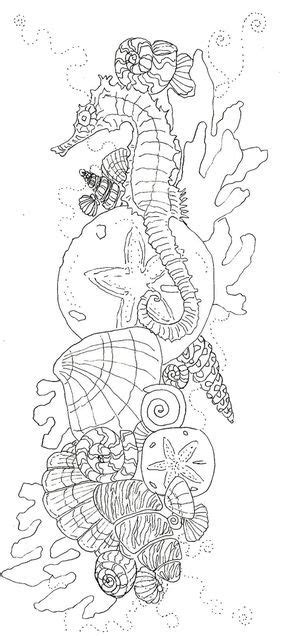 Pin by Lara Jager on Coloring | Ocean coloring pages, Sea tattoo, Ocean tattoos