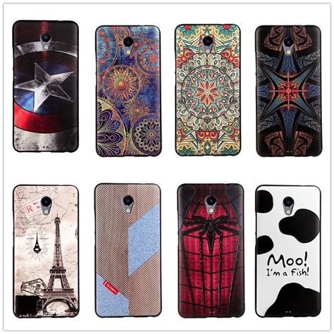 meizu  note case silicon   cover slim cartoon cute soft relief coque meizu  note