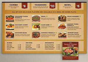Menu Board Design for Indian Food Restaurant Evolution