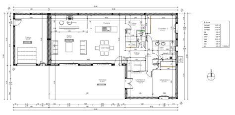plan maison plain pied 120m2 4 chambres avis plan de maison de 118m pour aménagement salle de