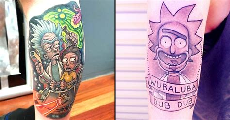 rick morty tattoos     wubba lubba dub dub