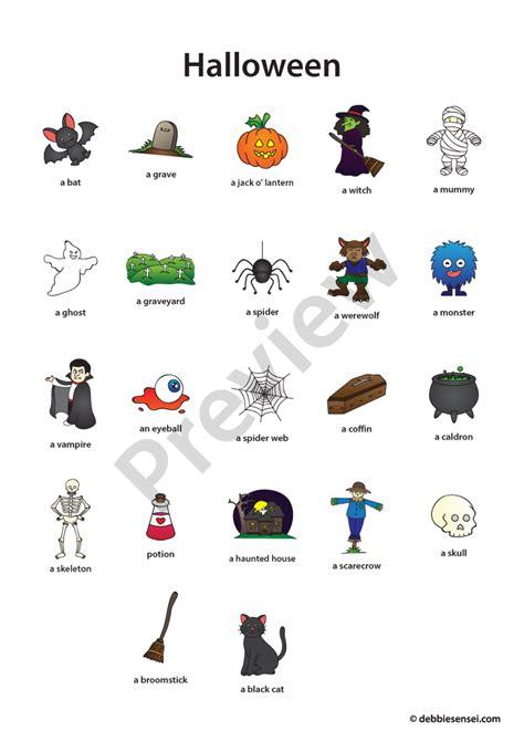 Debbie Sensei  Free Esl Halloween Flashcards  Debbie Sensei  Pinterest Anglais