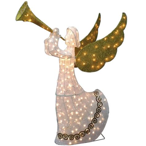 outdoor animated tinsel angel christmas decoration
