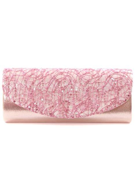 light pink evening bag clutch bag  metallic
